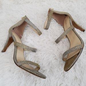 Kelly & katie champagne gold open toe heels size 9